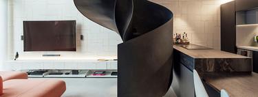Loft Diego o de cómo una escalera espectacular cambia completamente un estilo interior moderno fuera de serie