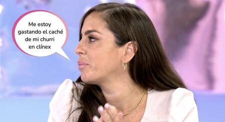 """Anabel Pantoja llora en 'Sálvame' al someter a examen su relación con Omar Sánchez: """"Somos un equipo"""""""