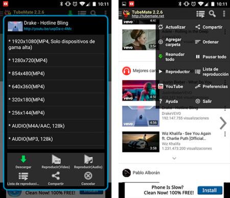 descargar videos de youtube para android samsung