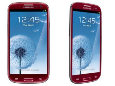 Samsung Galaxy S3 rojo