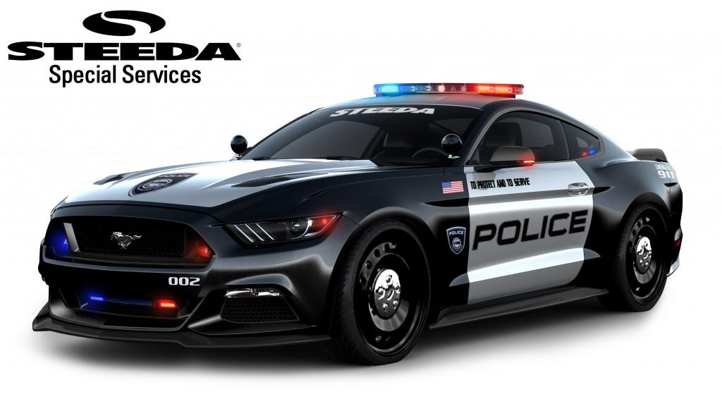 Ford Mustang Police Interceptor Para Alcanzar A Los Malos