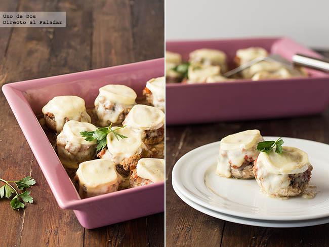 Receta de champiñones rellenos de carne picada y queso
