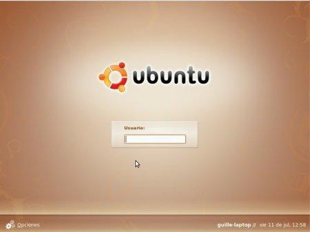 Instalar Ubuntu 8.04 - Inicio de sesión