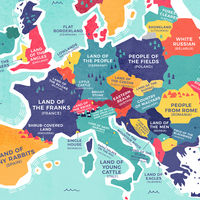 El significado del nombre de cada país del planeta, explicado en este divertidísimo mapa