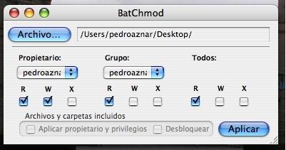 BatChmod: Otra forma de cambiar permisos a los ficheros