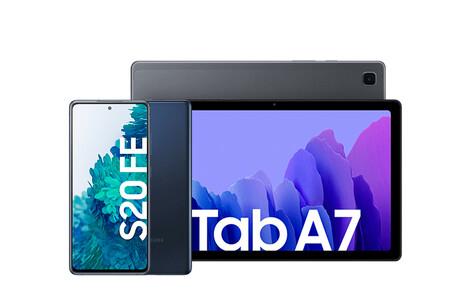 Samsung Galaxy Tab A7 y Samsung Galaxy S20 FE 4G