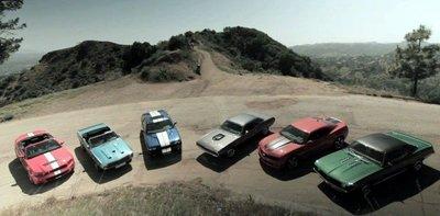 Comparativa entre los Mustang GT500, Challenger y Camaro clásicos y contemporáneos