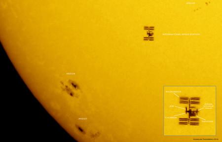 Cómo ver pasar la ISS delante del Sol o la Luna
