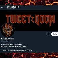 Ya puedes jugar a 'Doom' en Twitter mediante comandos de texto… o en una web, usando checkboxes a modo de píxeles