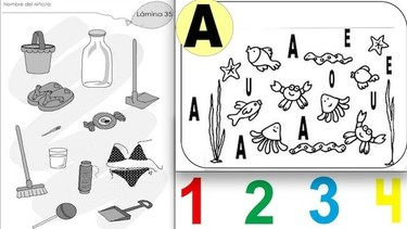 Fichas de actividades para niños: cuatro años