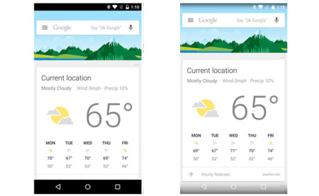 Google App 4.6 habilita transparencia en la barra de estado y notificaciones