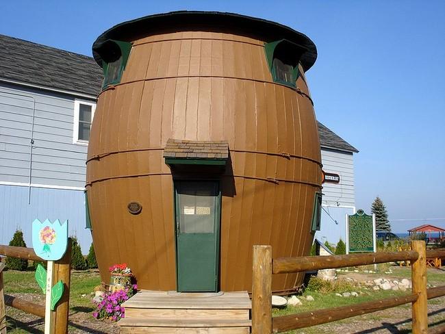 Casa con forma de tonel