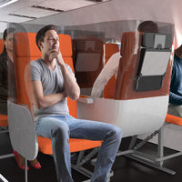 Asientos invertidos y con divisiones entre sí: así es como una compañía propone que sean las cabinas de avión en la era post COVID-19
