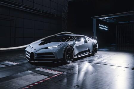 Bugatti Centodieci supera pruebas aerodinámicas en un túnel de viento que sopla a más de 300 km/h