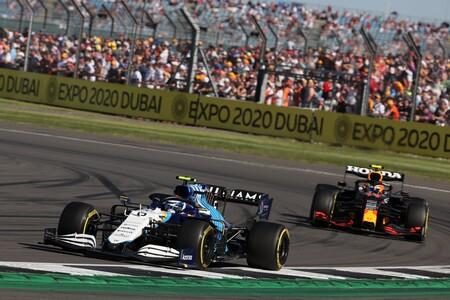 Latifi Perez Silverstone F1 2021
