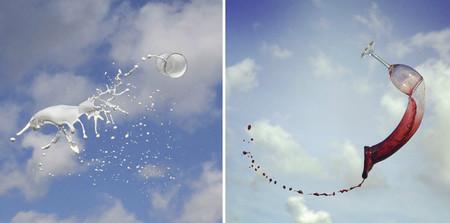 Las fotografías de bebidas lanzadas al aire de Manon Wethly