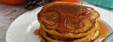 Hot cakes de calabaza y especias. Receta para una mañana de otoño