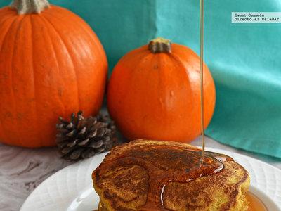 Hot cakes de calabaza y especias. Receta de desayuno