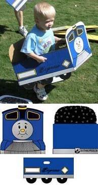 Box train express, un tren, una caja de cartón
