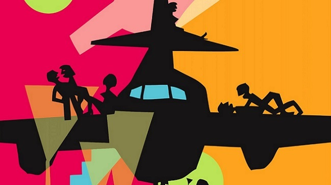 Imagen con el cartel de 'Los amantes pasajeros'