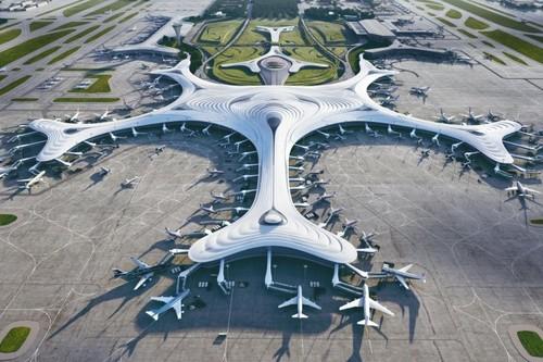 Mad Yansong diseña un futurista copo de nieve para la Terminal 3 del aeropuerto de Harbin Taiping