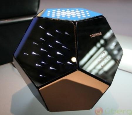 Servidor doméstico de Toshiba con forma de dodecaedro