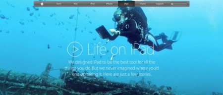 "Nueva página ""Life on iPad"" en la web de Apple"
