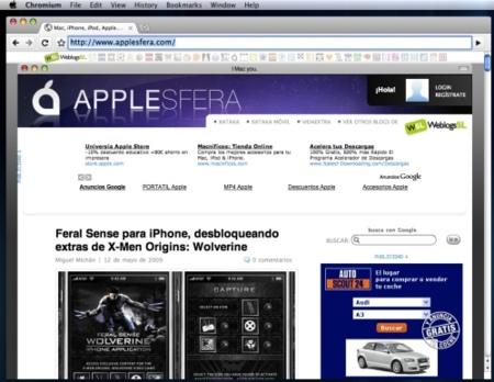 Chromium, primeras versiones de Chrome para Mac