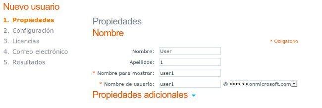 Creación de usuarios con Office 365