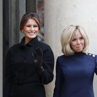 Melania Trump y Brigitte Macron vuelven a protagonizar un duelo de estilos (esta vez negro vs. azul marino)