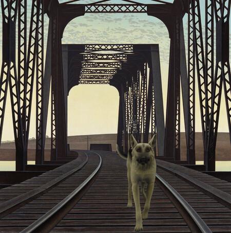 Colville Dog And Bridge