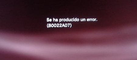 Error 80022A07