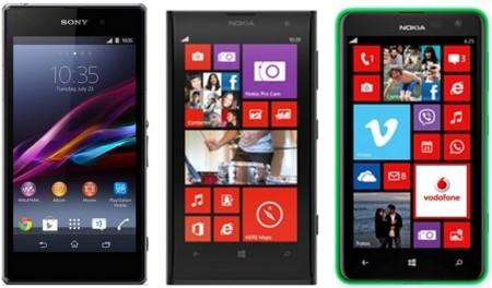 Precios Nokia Lumia 1020, Lumia 625, Sony Xperia Z1 y Xperia Z Ultra con Vodafone