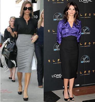 Penélope Cruz y Victoria Beckham: estilos parecidos