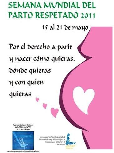 Semana Mundial por un parto respetado 2011