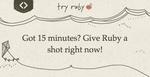 Aprende Ruby en 15 minutos con TryRuby