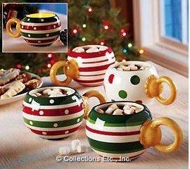Decoración navideña: tazas para la ocasión