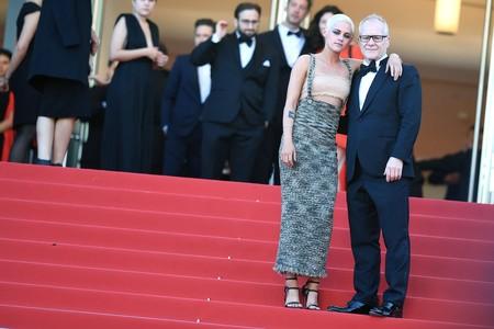 Kristen Stewart con Thierry Fremaux