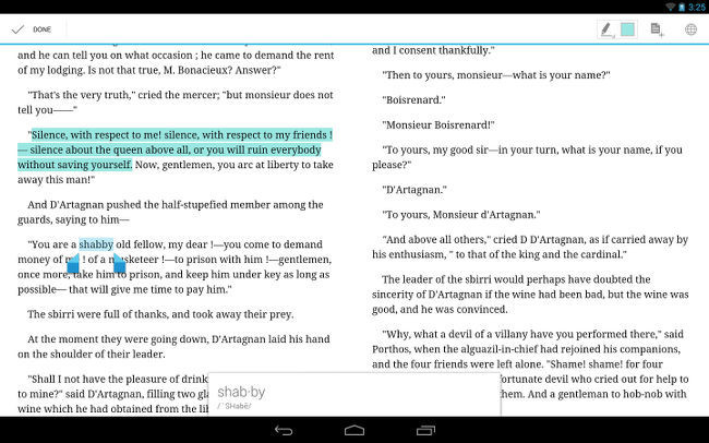 Google Play Books en tableta Android