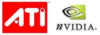 Logos de ATI y NVidia