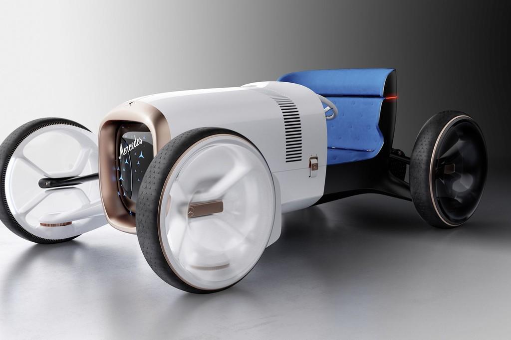 Mercedes-Benz mezcla el pasado con el futuro en este concepto de coche eléctrico que se basa en el