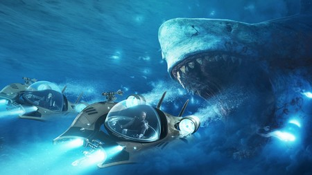 The Meg Movie Megalodon Shark Jason Statham Li Bingbing T86