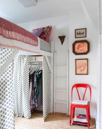 ¿Cómo crear un dormitorio con vestidor en pocos metros?