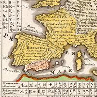 Los cientos de idiomas y sistemas de escritura del mundo, ilustrados en un precioso mapa de 1741