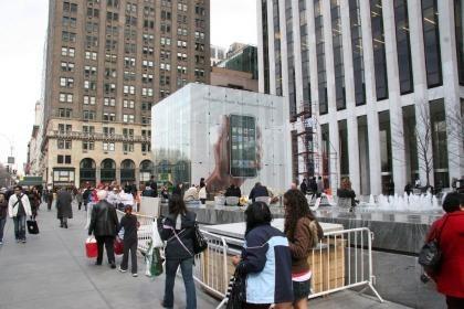 Anuncio del iPhone en la tienda de la 5a avenida de Nueva York