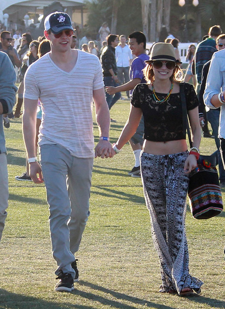 Emma Roberts and Chad Overstreet coachella