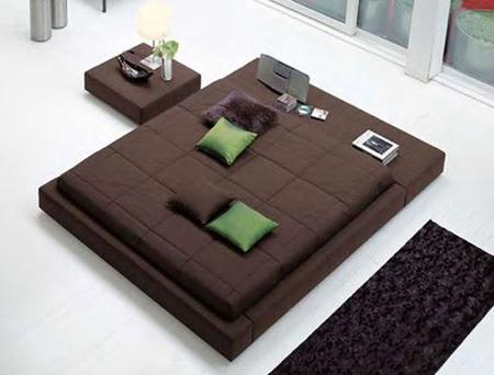 cama marron