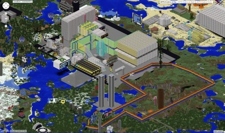 Vista completa del disco duro de 4KB en Minecraft