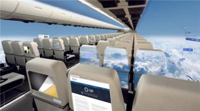 El avión comercial del futuro podría prescindir de las ventanillas