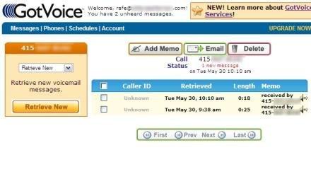 GotVoice lee tu buzón de voz y te envía el mensaje al email